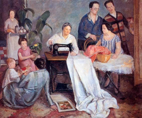 Dipinto Ritratto di famiglia del pittore Cavalli